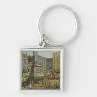 View of the Town Hall, Potsdam Silver-Colored Square Keychain