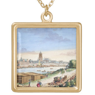 View of the Town of Frankfurt, facing south (print Square Pendant Necklace