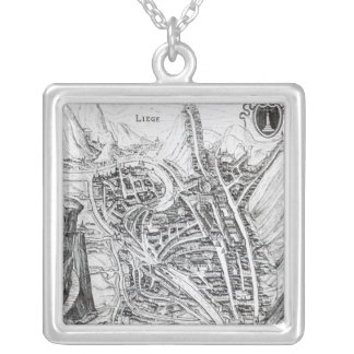 View of the Town of Liege Silver Plated Necklace