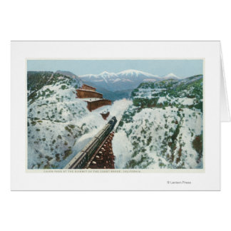 View of the Train at the Summit of the Coast Greeting Card