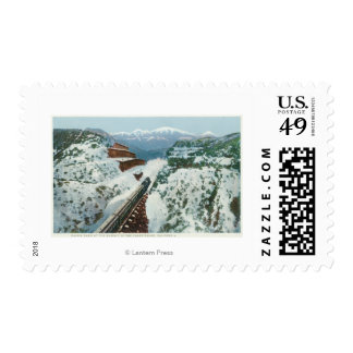 View of the Train at the Summit of the Coast Postage Stamps