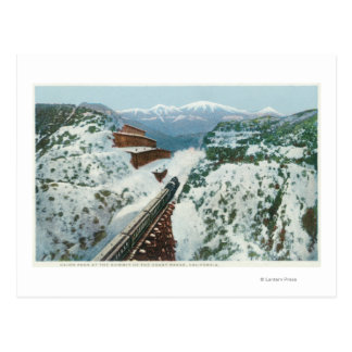View of the Train at the Summit of the Coast Post Card