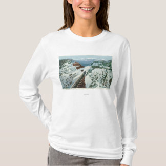 View of the Train at the Summit of the Coast T-Shirt