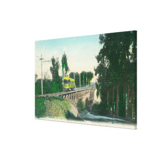 View of the Trestle on the Interurban Railway Stretched Canvas Print