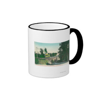 View of the Trestle on the Interurban Railway Mugs