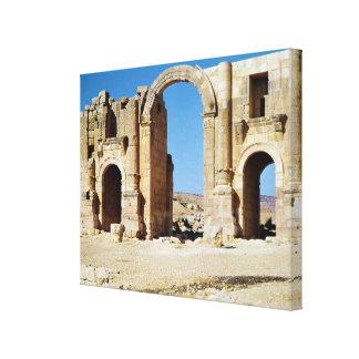 View of the Triumphal Arch, built c.129 AD Canvas Print