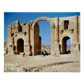 View of the Triumphal Arch, built c.129 AD Poster