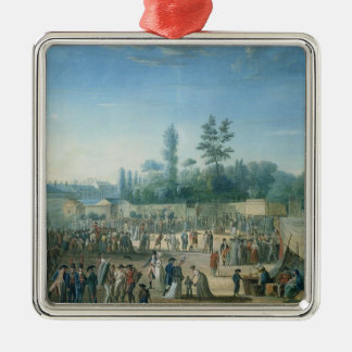 View of the Tuileries Square Metal Christmas Ornament