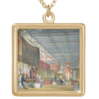 View of the Tunisian stand, at the Great Exhibitio Gold Plated Necklace