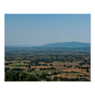 View of the Umbrian Countryside - Poster