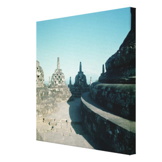 View of the uppermost circular terrace canvas print