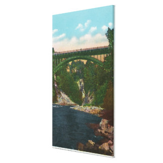View of the US Hwy Bridge, Route 9 Canvas Print