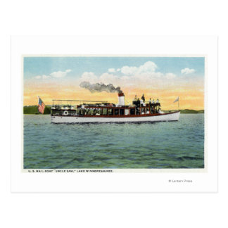 View of the US Mail Boat Uncle Sam Postcard