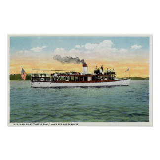 View of the US Mail Boat Uncle Sam Poster