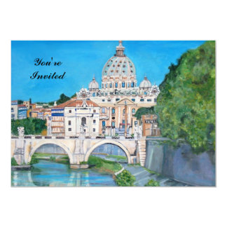 View of the Vatican City Painting - Invitation Gre