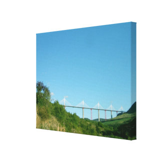 View of the viaduct, completed in December 2004 (p Canvas Print