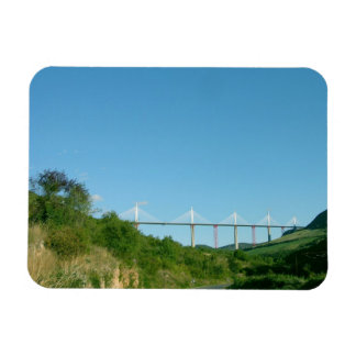 View of the viaduct, completed in December 2004 (p Rectangular Photo Magnet