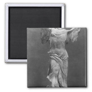 View of the Victory Samothrace in Louvre museum Magnet