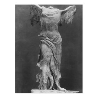 View of the Victory Samothrace in Louvre museum Postcard