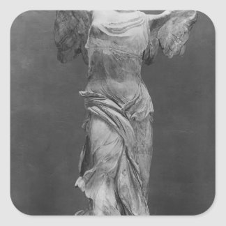 View of the Victory Samothrace in Louvre museum Square Sticker