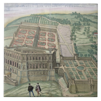 View of the Villa Farnese and the Gardens, from 'C Ceramic Tile