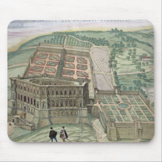 View of the Villa Farnese and the Gardens, from 'C Mouse Pad