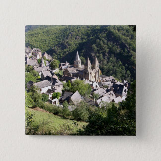View of the village and the Church of St. Foy (pho Button