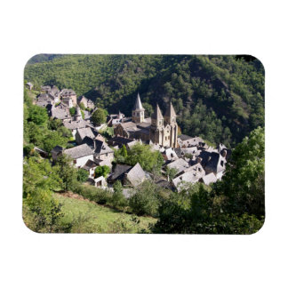 View of the village and the Church of St. Foy (pho Rectangular Photo Magnet