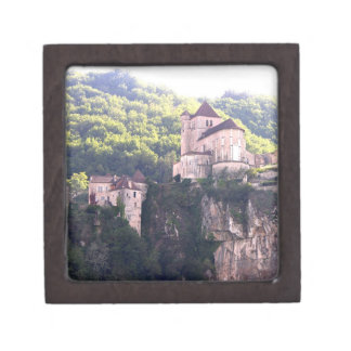 View of the village and the church (photo) 2 premium gift boxes