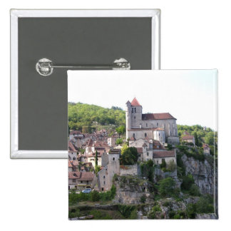 View of the village and the church photo 3 pinback button
