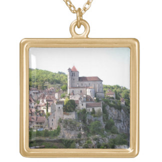 View of the village and the church (photo) 3 custom necklace