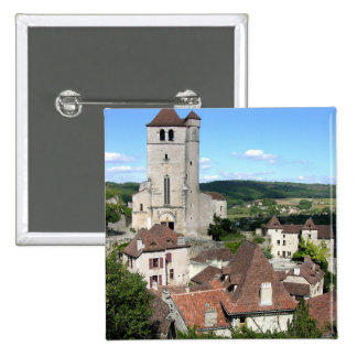 View of the village and the church photo button