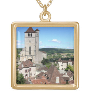 View of the village and the church (photo) custom jewelry
