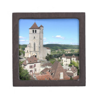 View of the village and the church (photo) premium gift boxes