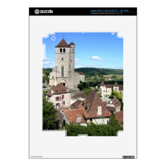 View of the village and the church (photo) skins for iPad 3