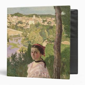 View of the village, Castelnau, 1868 Binder