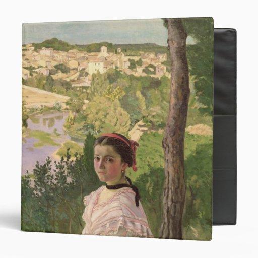 View of the village, Castelnau, 1868 Vinyl Binders