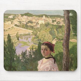 View of the village, Castelnau, 1868 Mouse Pad