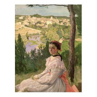 View of the village, Castelnau, 1868 Postcard