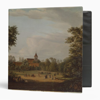 View of the village church Pankow 1835 Binders