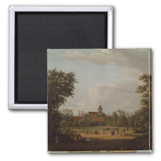View of the village church, Pankow, 1835 Magnet