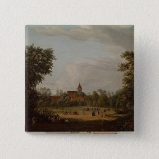 View of the village church, Pankow, 1835 Pinback Button