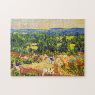 View of the Village of Giverny Monet Fine Art Jigsaw Puzzle