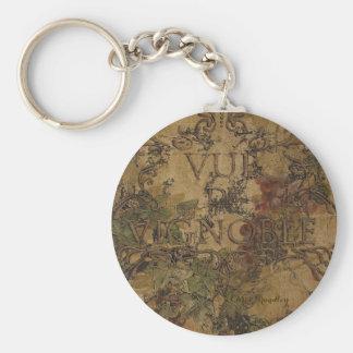 View of the Vineyard (Vue de Vignoble) Key Chain