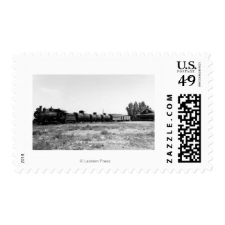 View of the Virginia & Truckee Railroad Train Postage Stamp