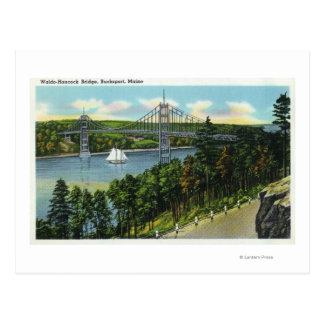 View of the Waldo-Hancock Bridge Postcard