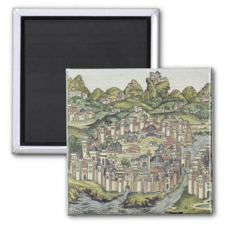 View of the walled city of Constantinople, from th Magnet