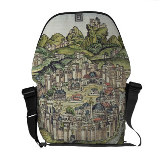 View of the walled city of Constantinople, from th Messenger Bag