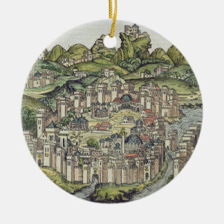 View of the walled city of Constantinople, from th Christmas Tree Ornaments
