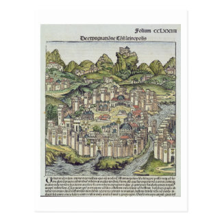 View of the walled city of Constantinople, from th Postcards
